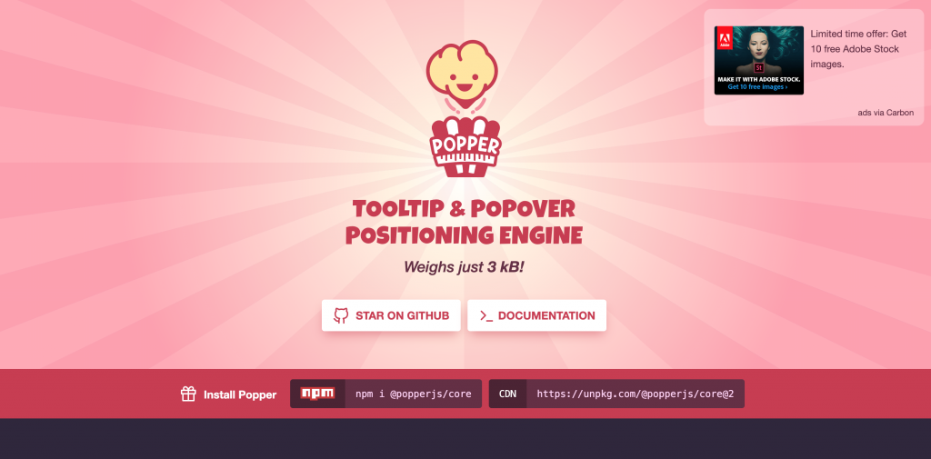 Popper.js captured by ICTS