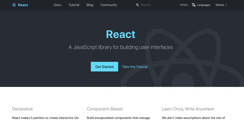 React.js captured by ICTS